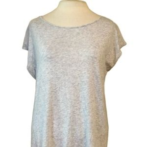 LOFT Gray Tee Shirt Tassel Ties in the back